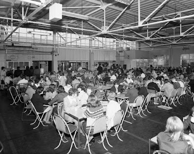 Inside the huge canteen at Hudson Road - 1960s
