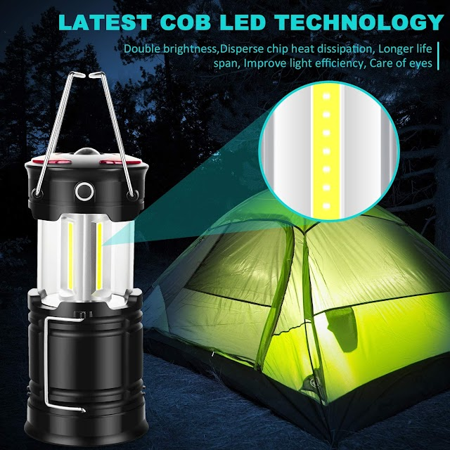 LED Camping Lantern,Rechargeable Camping Lights,Portable Tent Lights for Camping Power Outage Fishing Hiking Emergency Hurricane Home