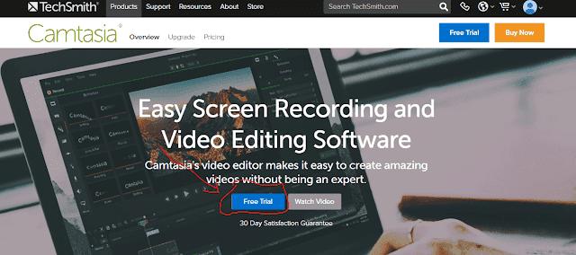 تحميل برنامج camtasia studio 9  باخر اصدار لة من الموقع الرسمى techsmith
