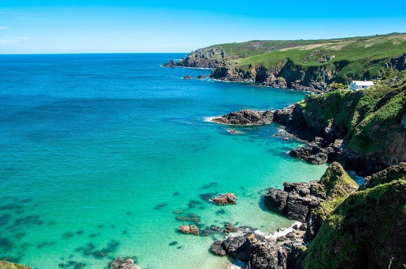 Treen Cove secret beach Cornwall