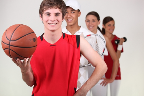 teen athletes from a variety of sports