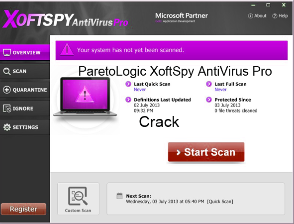 ParetoLogic XoftSpy Internet Security 2015 Crack License Key Keygen Download