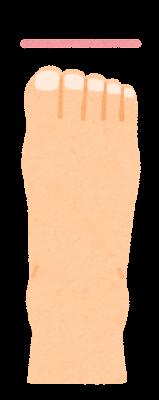 つま先の形のイラスト(スクエア型)