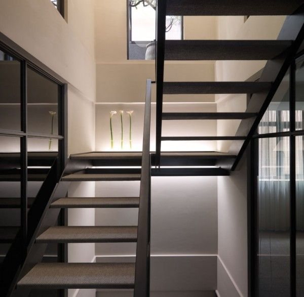 l shaped staircase design