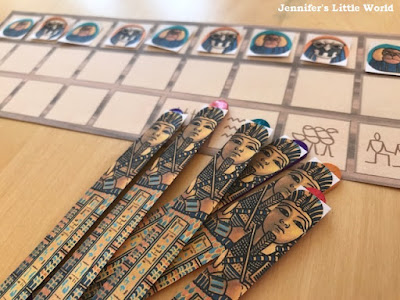 Ancient Egyptian game Senet printable