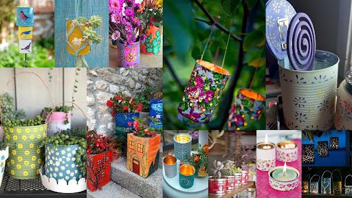 Summer tin cans DIY crafts