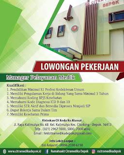Karir Lowongan Kerja RS Citramedika Depok 2019 Jl Kalimulya Cilodong