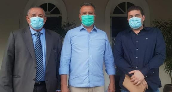Saúde, saneamento e infraestrutura são tema de audiência entre Euclides Fernandes e o governador Rui Costa.