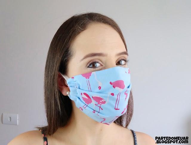 mascara tecido personalizada
