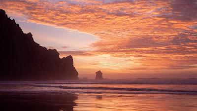 Nice Beach Landscape Sunset Wallpaper