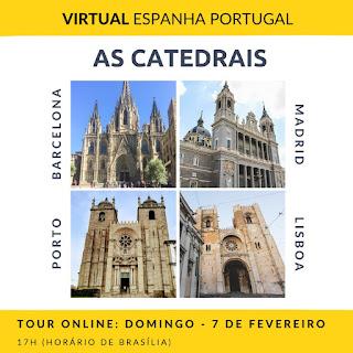 Tour Virtual sobre as Catedrais do Porto, Madrid, Lisboa e Barcelona