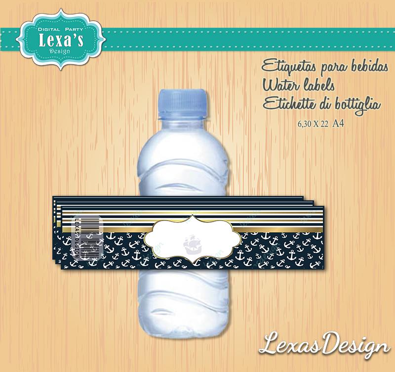 Etiquetas Jugo, Agua gratis Nautico