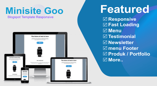 Minisite Blogspot Template responsive