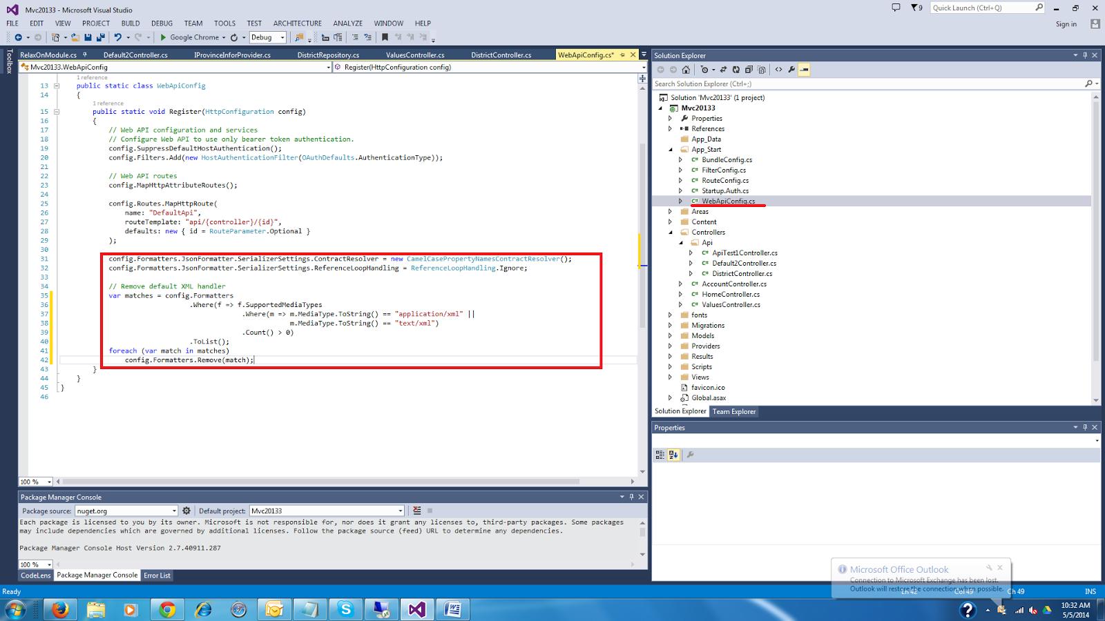 MCV,EF,SQL,KNOCKOUT,BACKBONE: MVC web API error handling  How to