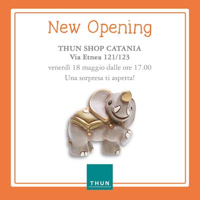 thun apertura inaugurazione negozio via etnea catania
