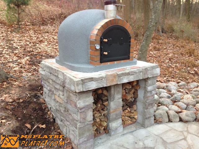 Four pour pizza en bois de chauffage