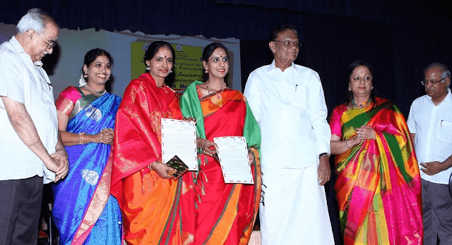 Ranjani and Gayathri conferred with D.K Pattamal Award