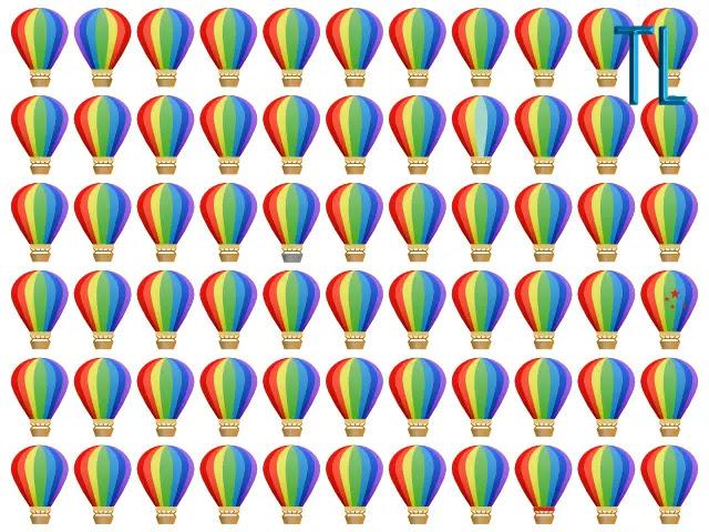 Muchos globos aerostáticos de colores sobre un fondo blanco
