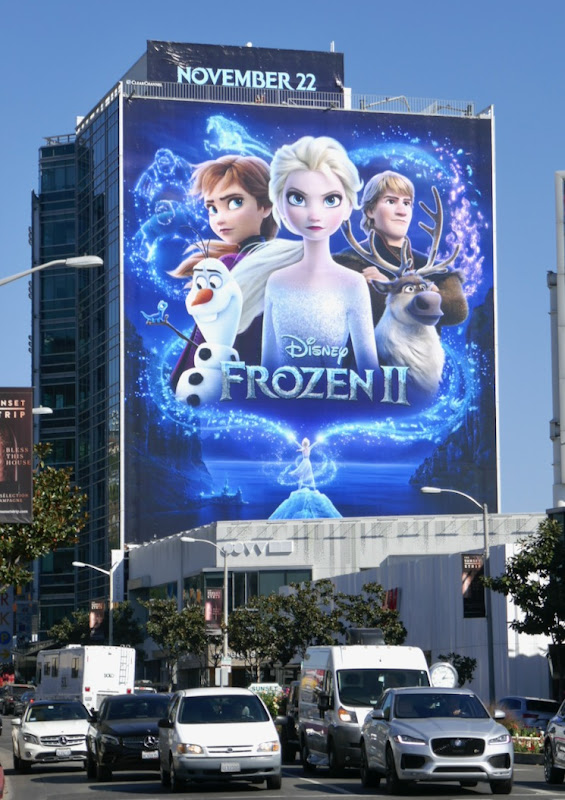 Giant Frozen II movie billboard