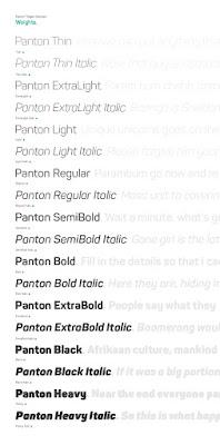 تحميل خط Panton font { خطوط }