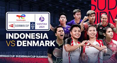 Link Live Streaming Sudirman Cup 2021 Perempat Final Indonesia Vs Denmark, Rabu 29 September 2021 Pukul 14.00 WIB
