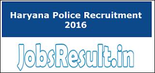 Haryana Police Recruitment 2016