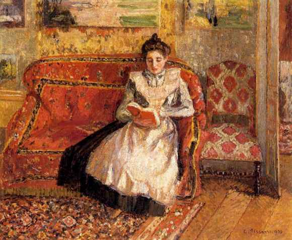 Jeanne Reading Camille Pissarro 1899