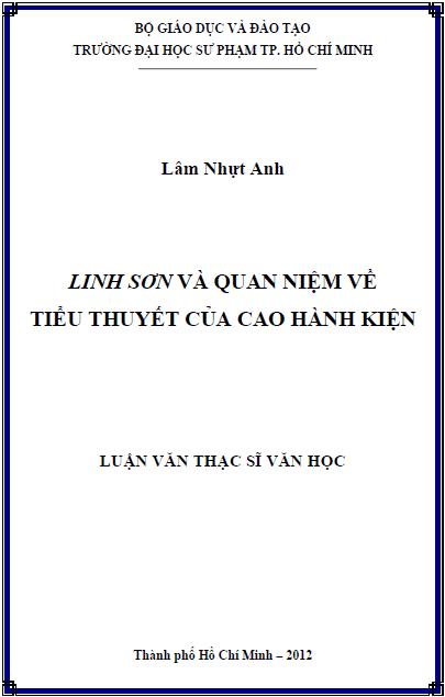 Linh Sơn và quan niệm về tiểu thuyết của Cao Hành Kiện