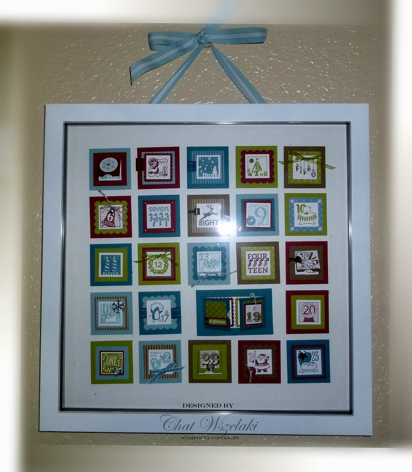 Me, My Stamps And I: Advent Shadow Box