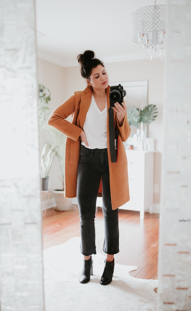 basic fashion, classic fashion, minimalist outfit, Madewell, j crew, Frame denim, black booties