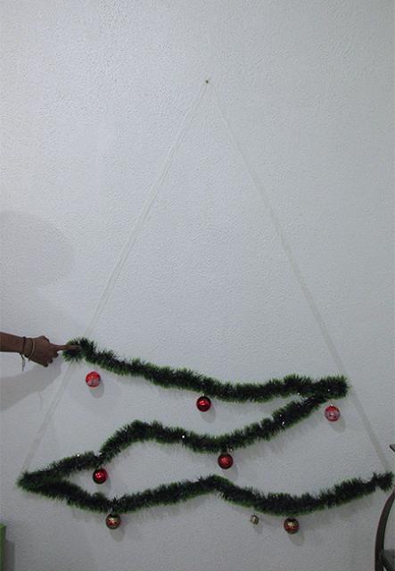 DIY Árvore de Natal: passo 4