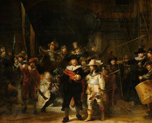 La-ronda-de-noche-Rembrandt-Museo