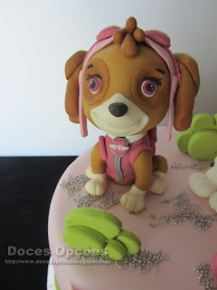 skye patrulha pata bolo aniversário