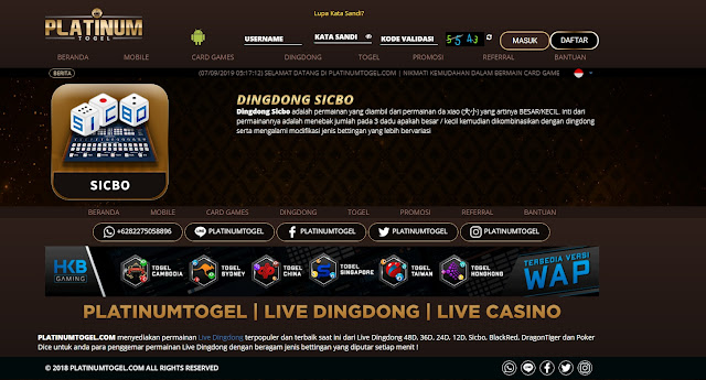 Cara Menang live dingdong Sicbo 100% Win rate