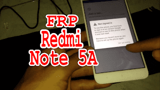 Frp Redmi Note 5A