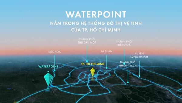 vị trí liên kết vùng dự án waterpoint nam long trên bản đồ