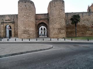 Ronda old town walls