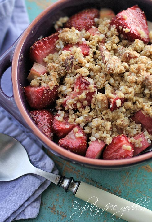 Gluten-Free Goddess Strawberry Rhubarb Crisp