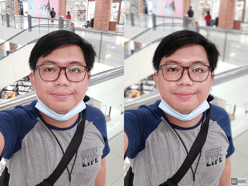 Indoor normal vs indoor using Portrait mode