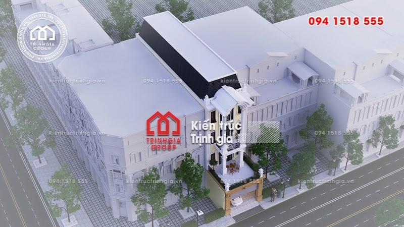 Bản vẽ thiết kế nhà phố mặt tiền 6m phong cách tân cổ điển - Mã số NP1335 - Ảnh 4
