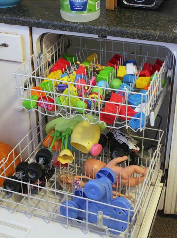 Limpieza y desinfección rápida de juguetes