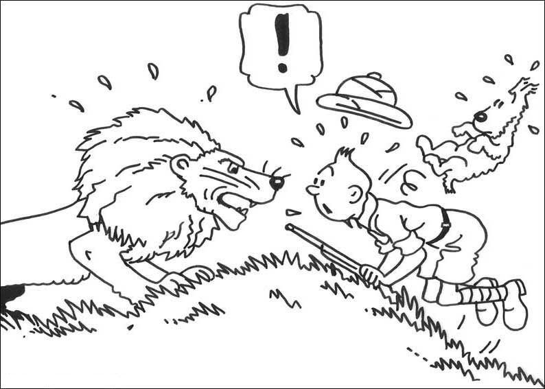 Krafty Kidz Center: Tintin Coloring Sheets