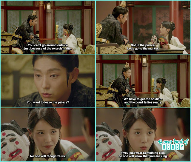 wang so refuse to leave the throne so hae so ask him to change into anything no body will recognize you as the king - Scarlet Heart Ryeo - Episode 18 (Eng Sub)