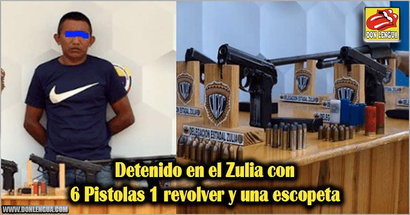 Detenido en el Zulia con 6 Pistolas 1 revolver y una escopeta