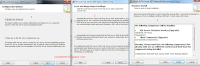 Instal Microsoft SQL Server 2005 Express di Windows 7