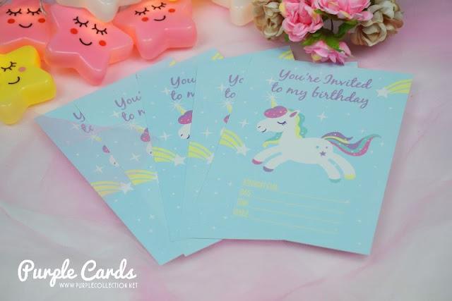 unicorn birthday invitation card, digital, printing, kuala lumpur, selangor, penang, johor bahru, melaka, seremban, pahang, terengganu, cute, colourful, colour, singapore, party planner, stationery