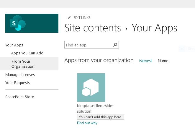 add an app sharepoint