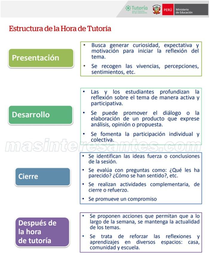Estructura de la sesión de tutoría