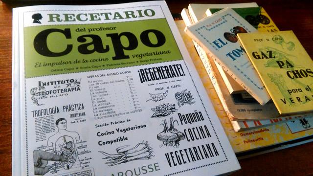 Libros recetas profesor Capo