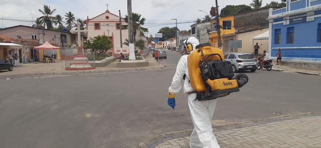 Vídeo: Serviço de sanitização contra a covid-19 segue em Goiana e nos distritos